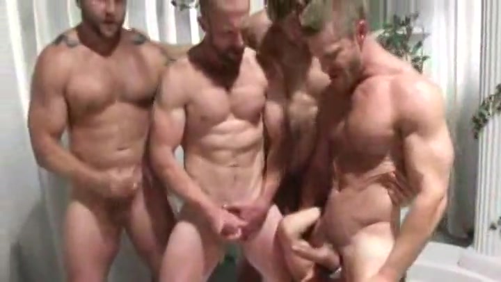 Hardcore group gay orgy in the Greek style