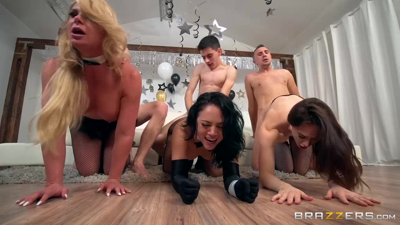 Brazzers new years eve with massive group sex orgy