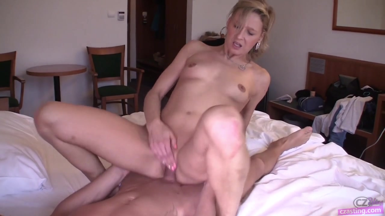 Sexy amateur blonde Martina on casting