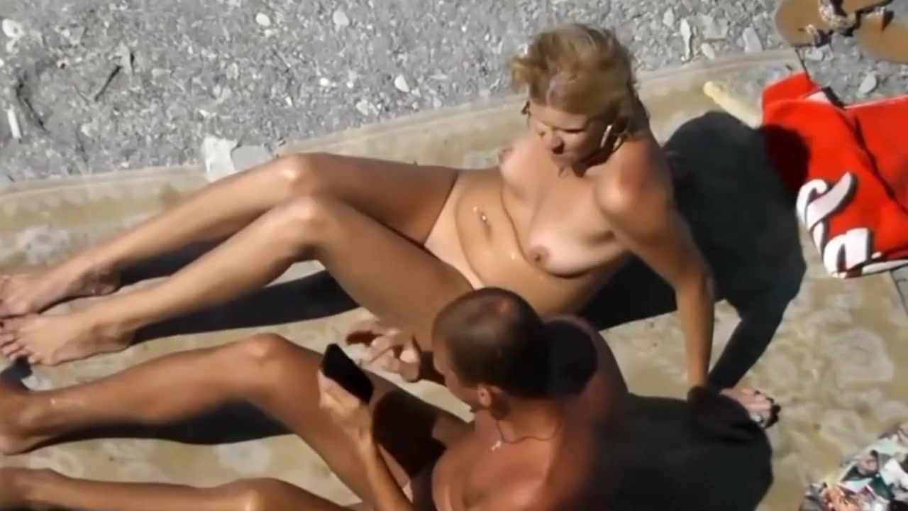 Real beach sex with horny wife